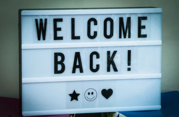 Welcome Back Letter